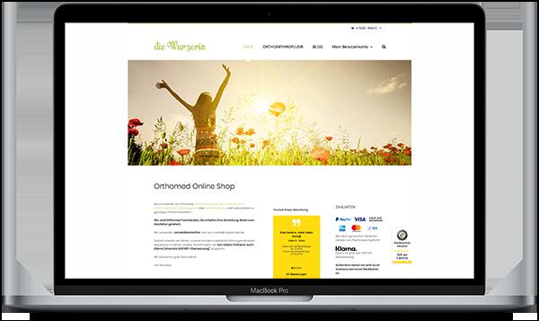 Referenz Die Wurzerin Orthomed Online Shop