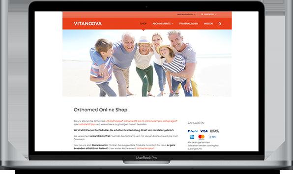 Referenz VitaNoova Online Shop