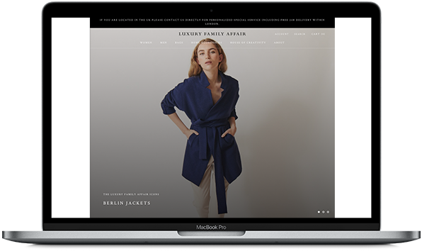 Referenz Luxury Family Affair Online Shop